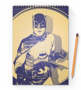 "Блокнот на пружине А4 ""Бэтмен"" - comics, комиксы, бэтмен, dc comics"