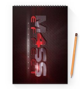 "Блокнот на пружине А4 ""Mass Effect"" - mass effect, n7, масс эффект"