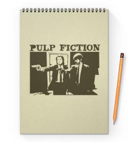 """Блокнот на пружине А4 """"Pulp Fiction"""" - кино, фильм, тарантино, криминальное чтиво, pulp fiction"""