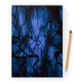 """Блокнот на пружине А4 """"Краски"""" - узор, космос, краски, абстракция, молния"""