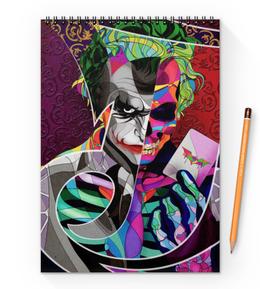 """Блокнот на пружине А4 """"Джокер"""" - комиксы, бэтмен, dc comics, batman, joker"""