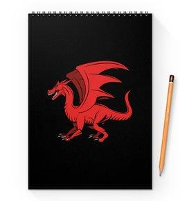 """Блокнот на пружине А4 """"дракон"""" - крылья, животные, дракон, dragon, динозавр"""