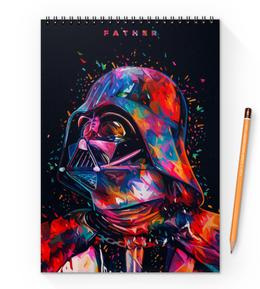"Блокнот на пружине А4 ""Дарт Вейдер (Darth Vader) "" - star wars, darth vader, звездные войны, дарт вейдер, стар варс"