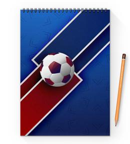 """Блокнот на пружине А4 """"Футбол"""" - футбол, спорт, мяч, 2018"""
