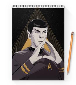 """Блокнот на пружине А4 """"Звездный путь: Спок"""" - star trek, звездный путь, спок, spock"""