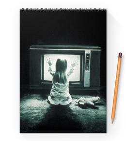 """Блокнот на пружине А4 """"Полтергейст"""" - страх, кино, призрак, ужасы, привидение"""