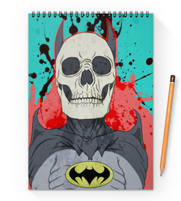 "Блокнот на пружине А4 ""Бэтмен"" - комиксы, batman, бэтмен, dc, dc comics"
