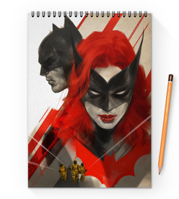 "Блокнот на пружине А4 ""Бэтмен"" - комиксы, batman, batwoman, dc comics"