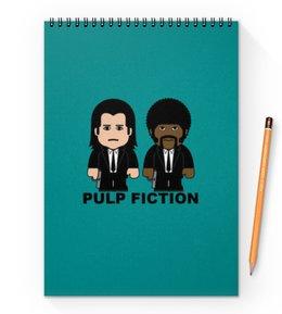 """Блокнот на пружине А4 """"Pulp Fiction"""" - тарантино, криминальное чтиво, джон траволта, сэмюэл лерой джексон, культовое кино"""