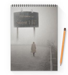 """Блокнот на пружине А4 """"Сайлент Хилл"""" - страх, игра, кино, ужасы, silent hill"""
