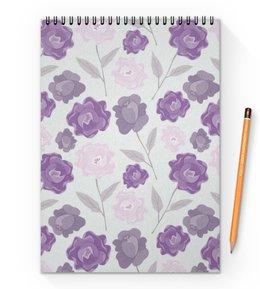 """Блокнот на пружине А4 """"цветы"""" - лето, цветы, узор, природа, цветочки"""