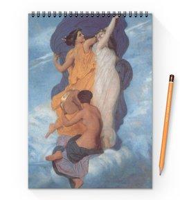 """Блокнот на пружине А4 """"Танец (картина Вильяма Бугро)"""" - картина, академизм, живопись, бугро"""