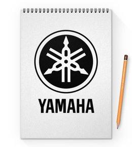 "Блокнот на пружине А4 ""YAMAHA"" - авто, машина, мото, yamaha, ямаха"