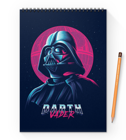 "Блокнот на пружине А4 ""Дарт Вейдер (Darth Vader) "" - darth vader, звездные войны, дарт вейдер, стар варс"