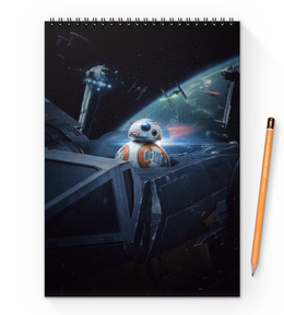 "Блокнот на пружине А4 ""Star Wars"" - фантастика, star wars, звездные воины, империя, джедай"
