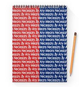 """Блокнот на пружине А4 """"By any means necessary"""" - узор, надписи, бренд, brand, by any means necessary"""