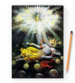 """Блокнот на пружине А4 """"Lord Vishnu (Господь Вишну)"""" - вишну, бог вишну, господь вишну, vishnu, бог"""