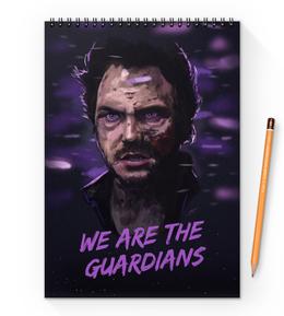"""Блокнот на пружине А4 """"Звездные войны"""" - комиксы, марвел, стражи галактики, guardians of the galaxy, звездный лорд"""