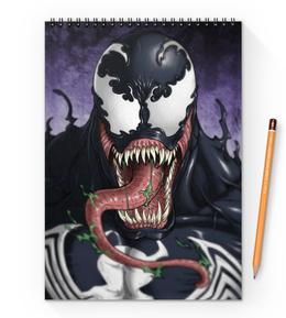 """Блокнот на пружине А4 """"Веном (Venom)"""" - comics, комиксы, venom, марвел, веном"""