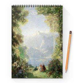 """Блокнот на пружине А4 """"Дворец грёз (Томас Эдвин Мостин)"""" - картина, живопись, мостин, романтизм"""