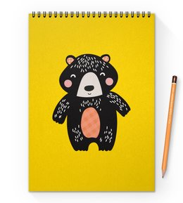 """Блокнот на пружине А4 """"мишка"""" - животные, медведь, мишка, мульт, медвежонок"""