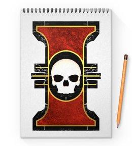 "Блокнот на пружине А4 ""Инсигния"" - warhammer 40k, инсигния, инквизиция, император, империум человечества"