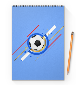 """Блокнот на пружине А4 """"Футбол"""" - футбол, спорт, мяч"""