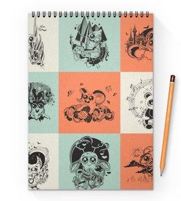 """Блокнот на пружине А4 """"животные"""" - музыка, хэллоуин, смешные, животные, мульт"""