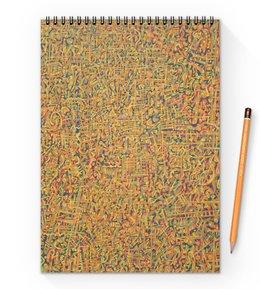 "Блокнот на пружине А4 ""Сандал"" - арт, узор, абстракция, фигуры, текстура"