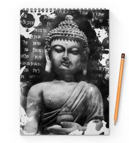 """Блокнот на пружине А4 """"Будда (Письмена)"""" - философия, религия, buddha, будда, духовность"""