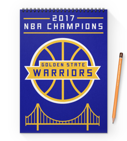 "Блокнот на пружине А4 ""Golden State champions"" - баскетбол, nba, нба, golden state warriors, кевин дюрант"