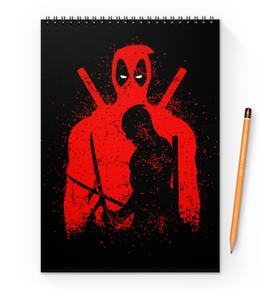 "Блокнот на пружине А4 ""Deadpool"" - комиксы, marvel, deadpool, марвел, дэдпул"