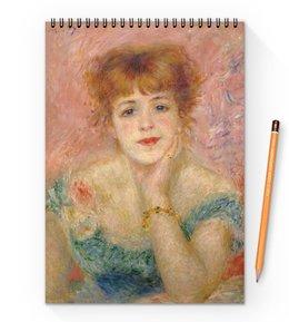 """Блокнот на пружине А4 """"Портрет актрисы Жанны Самари (Ренуар)"""" - картина, живопись, ренуар"""