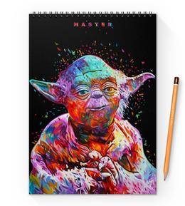 "Блокнот на пружине А4 ""Йода (Yoda)"" - star wars, звездные войны, master yoda, стар варс, мастер йода"