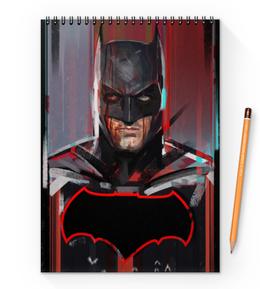"""Блокнот на пружине А4 """"Бэтмен"""" - комиксы, batman, бэтмен, dc comics, batman vs superman"""