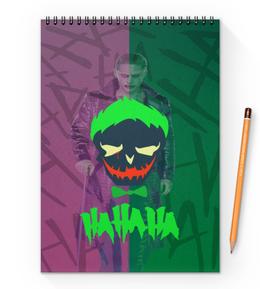 "Блокнот на пружине А4 ""HAHAHA"" - comics, джокер, joker, комиксы, dc"