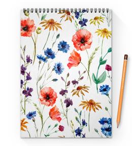 """Блокнот на пружине А4 """"Полевые цветы"""" - красиво, цветы, природа, полевые цветы"""