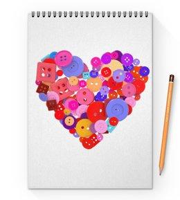 """Блокнот на пружине А4 """"День всех влюбленных"""" - любовь, день святого валентина, валентинка, i love you, день влюбленных"""