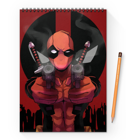 "Блокнот на пружине А4 ""Дэдпул (Deadpool)"" - марвел, комиксы, дэдпул, deadpool"