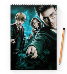 "Блокнот на пружине А4 ""Гарри Поттер"" - гарри поттер, волшебник, хогвартс, harry potter, рэдклифф"