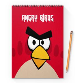 "Блокнот на пружине А4 ""Angry Birds (Terence)"" - angry birds, terence, игры, детям, компьютерная игра"