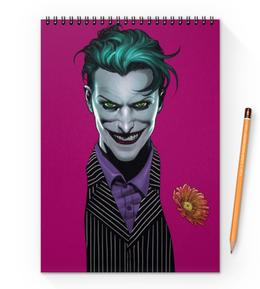 "Блокнот на пружине А4 ""Джокер"" - joker, комиксы, batman, бэтмен, dc comics"