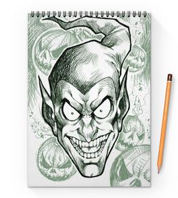 """Блокнот на пружине А4 """"Зеленый гоблин"""" - человек-паук, марвел, комиксы, green goblin"""