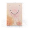 """Пакет 15.5х22х5cм """"Цветы"""" - цветы, розовый, розы, цинии, светлые тона"""