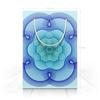 """Пакет 15.5х22х5cм """"Сине-зеленый узор гильош"""" - орнамент, подарок, геометрия, гильош"""