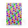 "Пакет 15.5х22х5cм ""Арлекин"" - ярко, мозаика, пятиугольники"