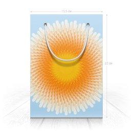 "Пакет 15.5х22х5cм ""Пусть всегда будет солнце!"" - цветы, солнце, орнамент, подарок"