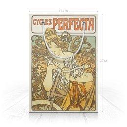 """Пакет 15.5х22х5cм """"Cycles Perfecta (Альфонс Муха)"""" - девушка, подарок, день рождения, альфонс муха, сестра"""
