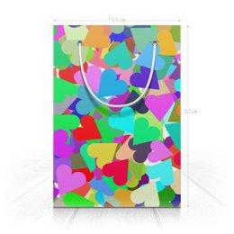"""Пакет 15.5х22х5cм """"Орнамент с сердечками подарочный"""" - праздник, любовь, орнамент, подарок"""