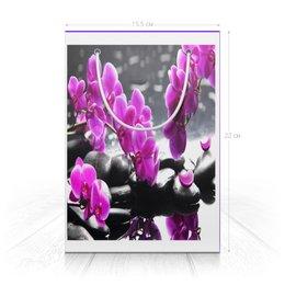 """Пакет 15.5х22х5cм """"Цветы. """" - праздник, цветы, с днём рождения, пакет, женский"""
